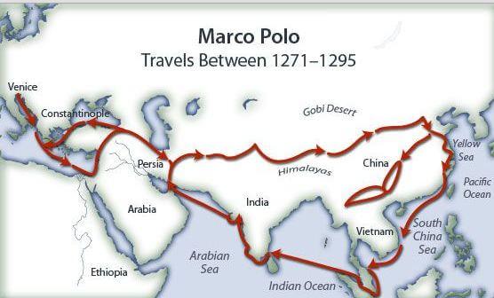 Marco Polo'nun Seyahat Haritası