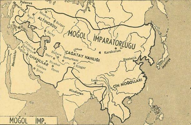 Moğol İmparatorluğu Harita