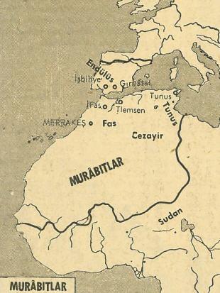 Murabıtların Hüküm Sürdüğü Alana Ait Harita
