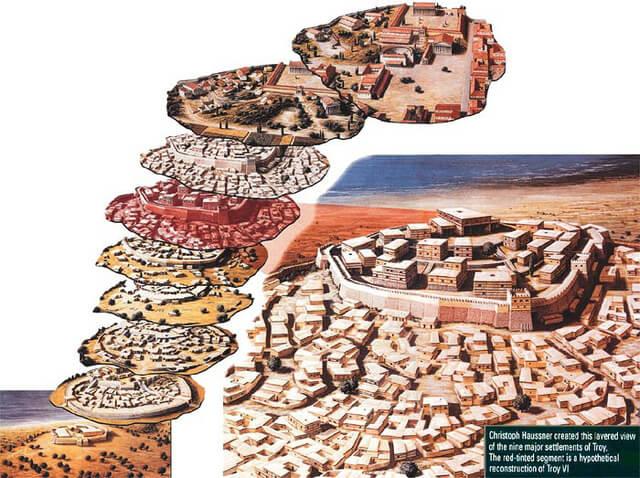 Truva Antik Kenti Katları