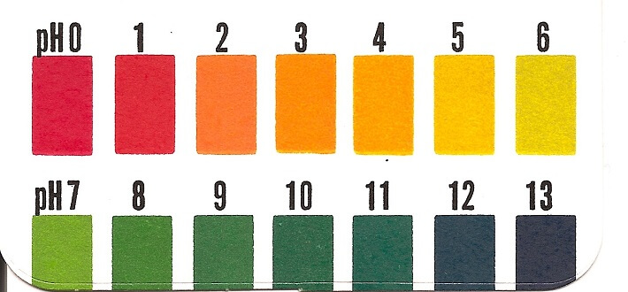Turnusol Kağıdı PH renk skalası