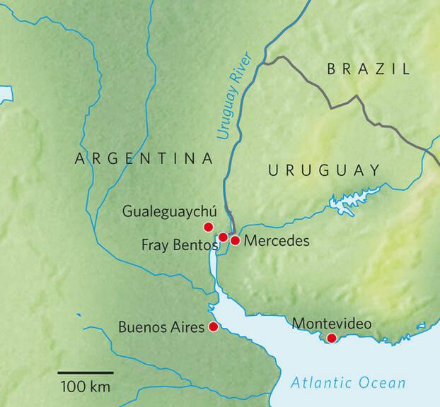 Uruguay Nehri Harita