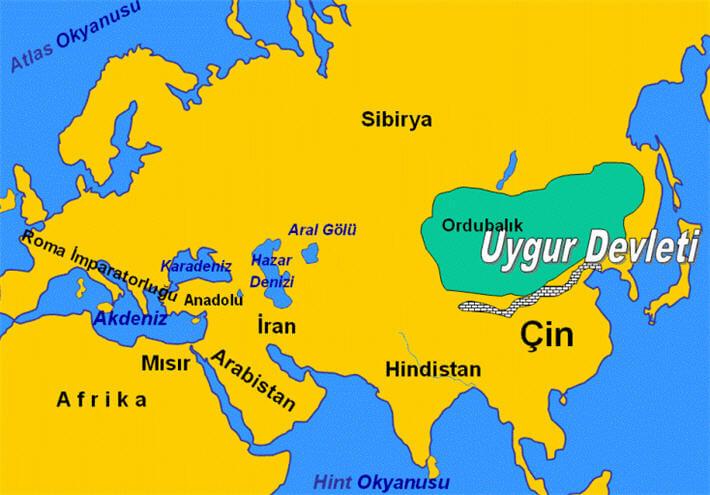 Uygurlar Haritası