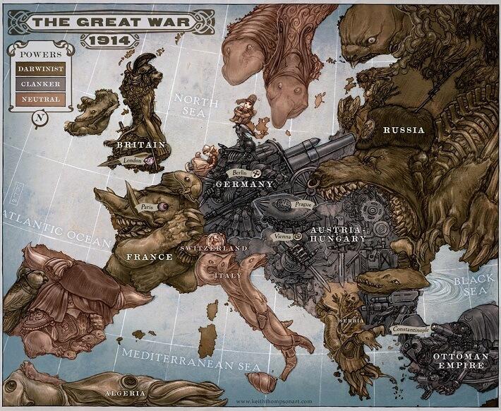 1. Dünya Savaşı'nı anlatan bir propaganda haritası...