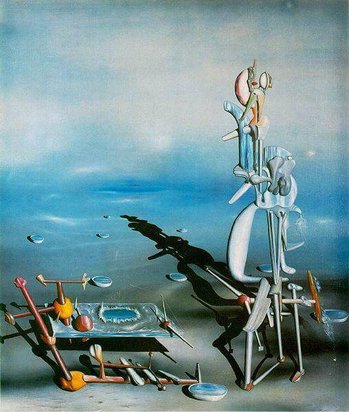 Yves Tanguy Indefinite Divisibility 1942, Albright Knox Sanat Galerisi, Buffalo, New York