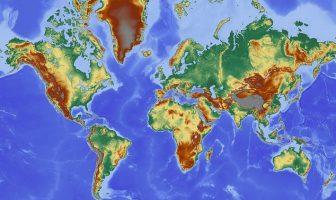 Topografik Dünya Haritası