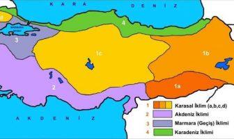 Türkiye İklim Tipleri Haritası