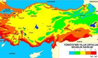 Türkiye Sıcaklık Haritası