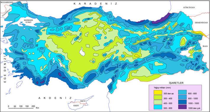 Türkiye Yağış Haritası