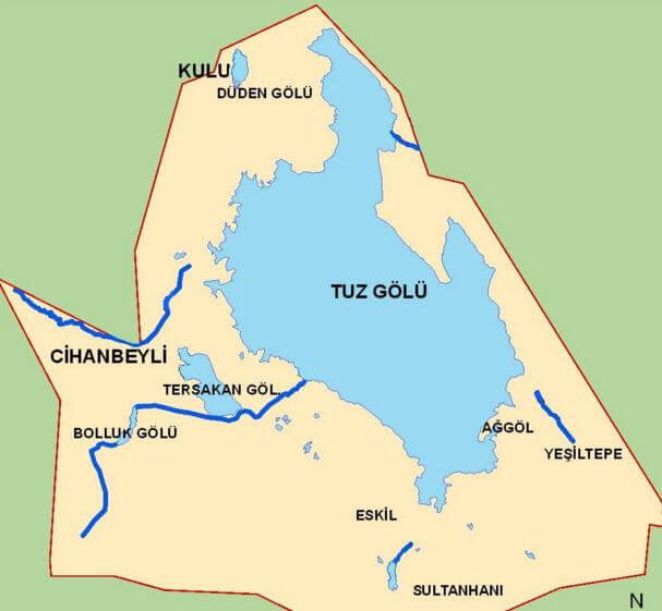 Tuz Gölü Haritası