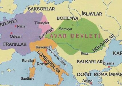 Avar Devleti Harita