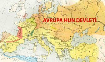 Avrupa Hun Devleti Haritası