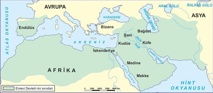 Emevi Devleti - Haritası