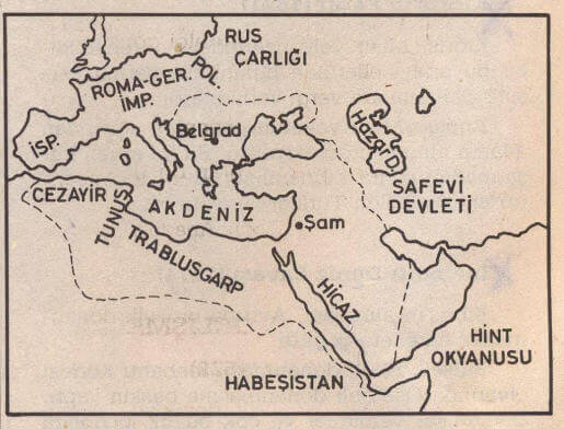 Kanuni Sultan Süleyman harita