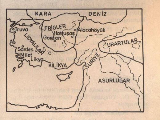 Lidyalılar Harita