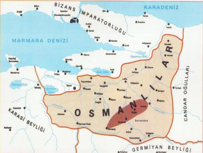 Osman Bey Dönemi harita