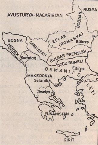 Berlin Antlaşmasından Sonra Osmanlı Devletinin Avrupa'daki Sınırları