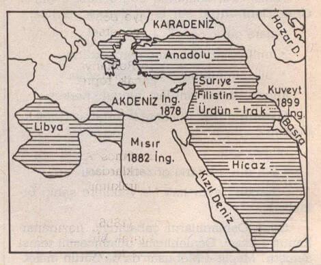 Osmanlı Devleti'nin XX. Yüzyıl başlarındaki sınırları