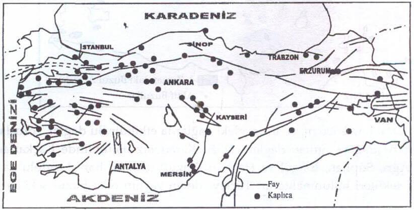 Türkiye kaplıca Haritası