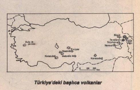 Türkiye'de Başlıca Volkanlar
