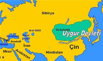 Uygur Devleti Harita