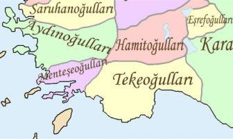 Hamitoğulları Beyliği Harita