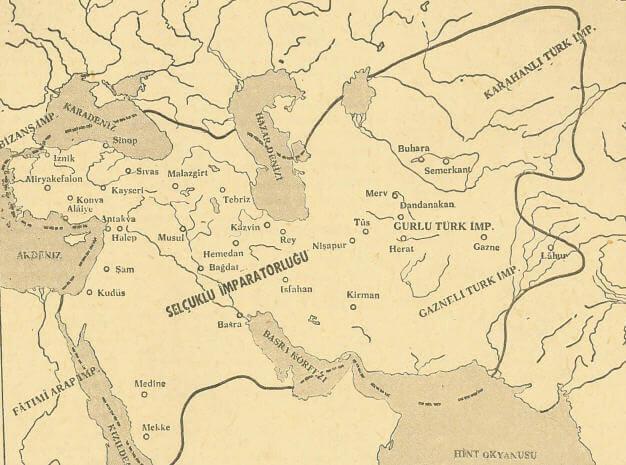Selçuklu İmparatorluğu Haritası