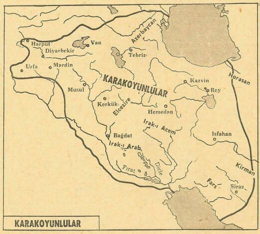 karakoyunlular harita