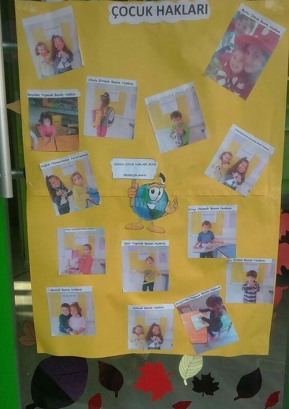 Dünya Çocuk Hakları Günü Pano Çalışmaları