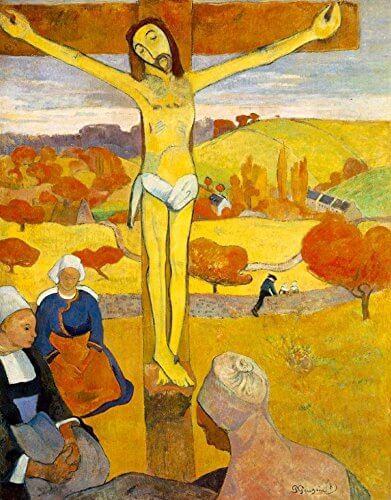 """Gauguin'in Pont-Aven Okulu dönemine ait bir eseri : """"Sarı İsa"""" (1889)"""