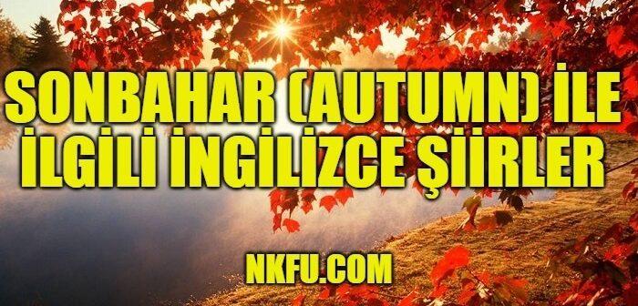 Sonbahar İle İlgili İngilizce Şiirler