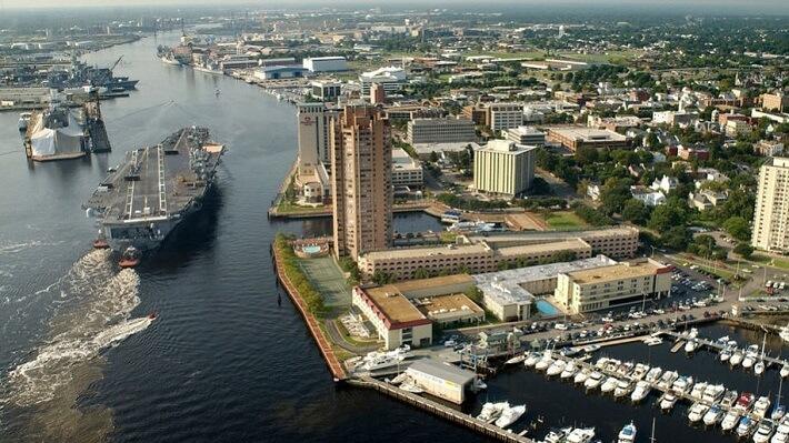 Virginia Eyaleti Portsmouth Şehrinden bir görüntü