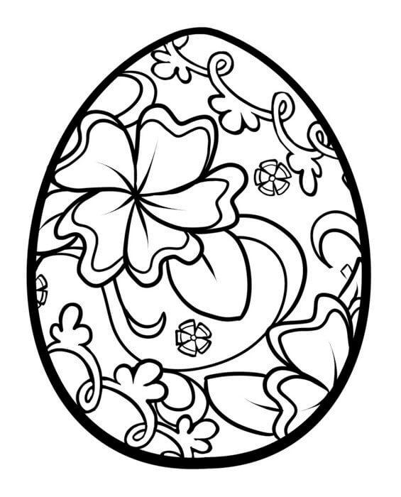 Paskalya Yumurtası Boyama Sayfaları