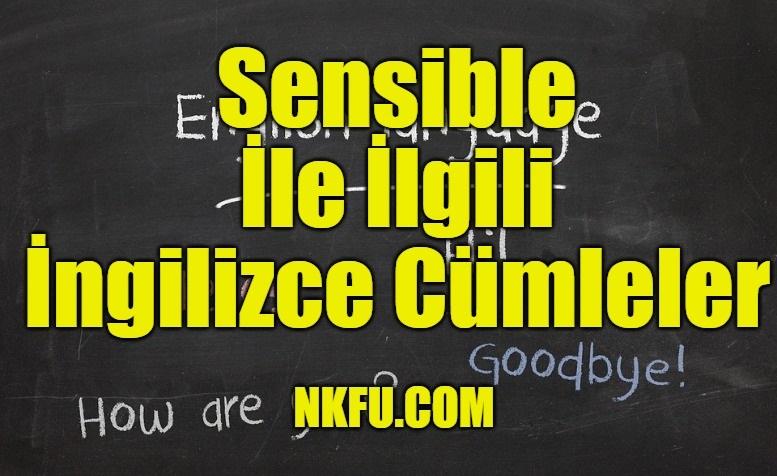 Sensible İle İlgili İngilizce Cümleler