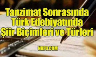 Tanzimat Sonrasında Türk Edebiyatında Şiir Biçimleri ve Türleri