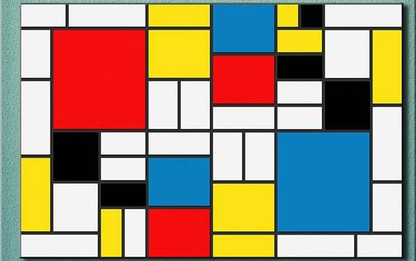 Piet Mondrian - Büyük Kırmızı Yüzey Kompozisyon