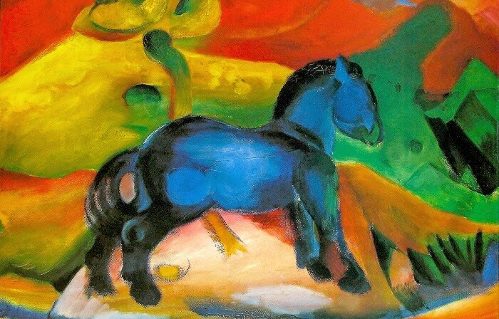 Franz Marc - Küçük Mavi At