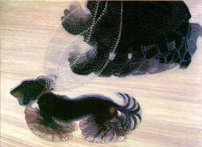 Giacomo Balla - Tasmalı Köpeğin Dinamizmi
