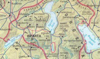 Isparta Fiziki Haritası