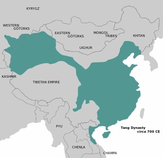 Tang Hanedanlığı Haritası
