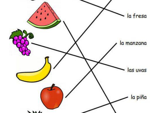 İspanyolca Meyveler (Resimli)
