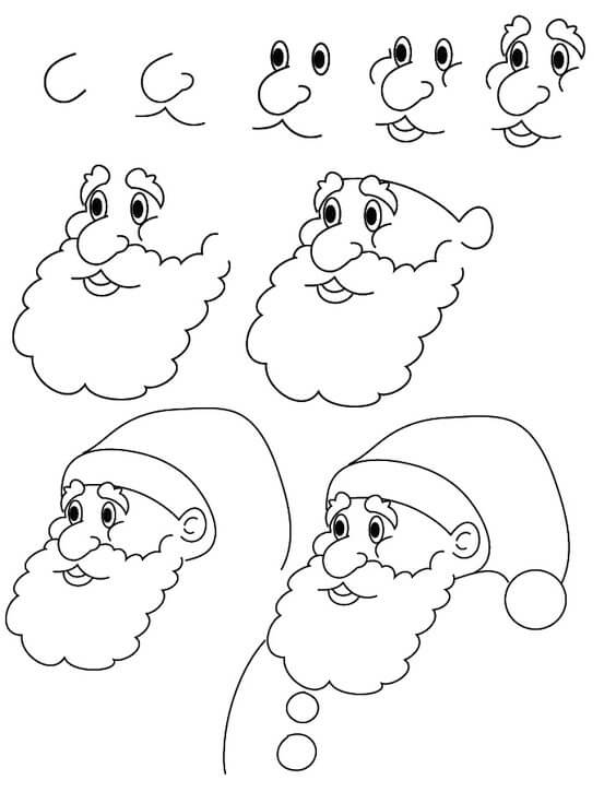 Noel baba nas l izilir ad m ad m kolay noel baba izimi - Comment dessiner un elephant facilement ...