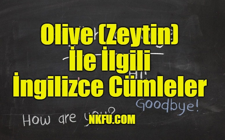 Olive (Zeytin) İle İlgili İngilizce Cümleler