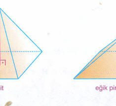 Dik Piramit ve Eğik Piramidin Özellikleri