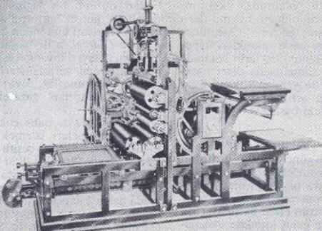 Koenig ve Bauer tarafından geliştirilen merdaneli baskı makinesi, 1811