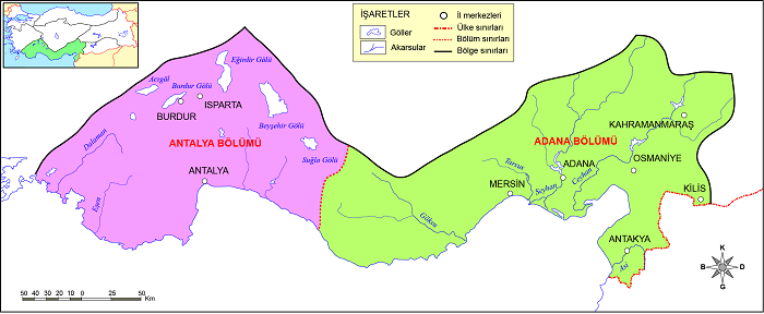Akdeniz Bölgesi Bölümleri