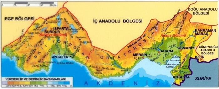 Akdeniz Bölgesi Yer şekilleri
