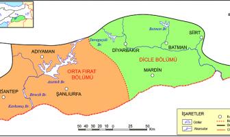 Güneydoğu Anadolu Bölgesi Bölümleri