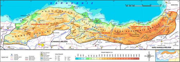 Karadeniz Bölgesi Yer şekilleri