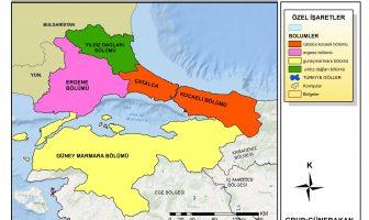 Marmara Bölgesinin Bölümleri